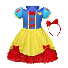 AmzBarley Girls Snow White Costume Kids Fancy Princess Dress Up Halloween Birthday Party outfits for 2-8 Years girls Ball gown 2018 new arrive girls halloween dress handmade children costume clothing for 2 12 years kids birthday party princess dresses