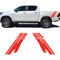 2PC 4x4 off road car sticker pickup box bed car decal for toyota hilux revo and vigo