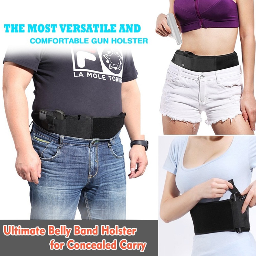 1Pc New Concealed Carry Pistol Gun Pouch Waist Bag Tactical