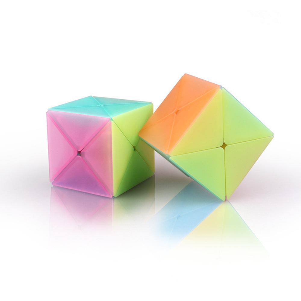 Simple Jelly Color Magic Cube Stress Reliver Toy for Infant Student Kids in Magic Cubes from Toys Hobbies