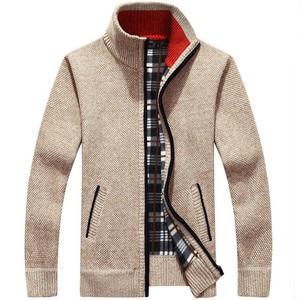 Sweater men's autumn and winter plus velvet thickening artif