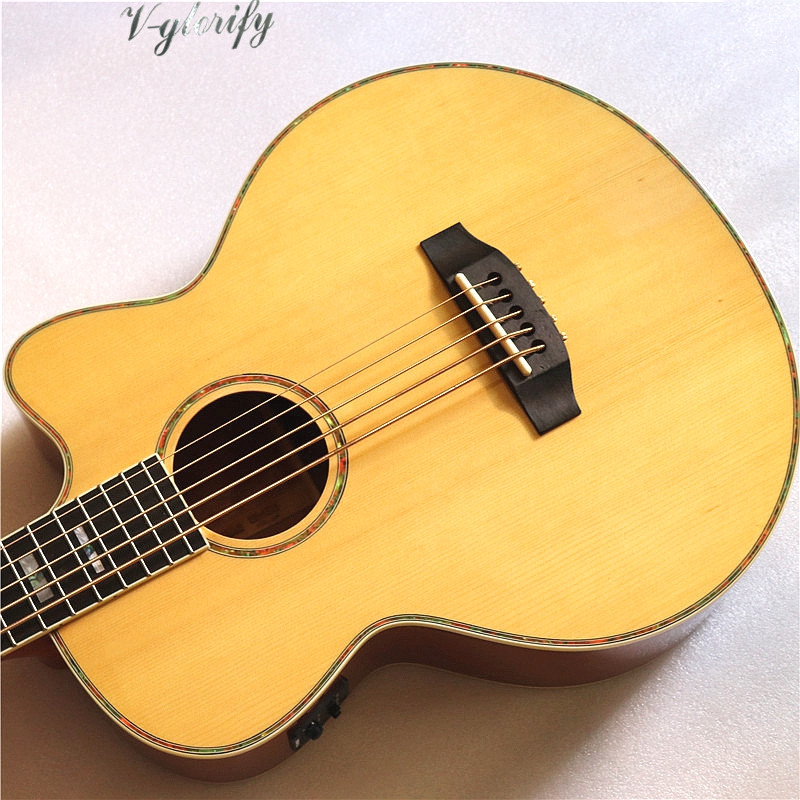 good quality 5 string acoustic bass guitar with eq in guitar from sports entertainment on. Black Bedroom Furniture Sets. Home Design Ideas