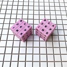 Профессиональные 3x3x3 5,8 см скоростные магические кубики, головоломка, черный розовый кубик, Магический кубик, наклейка для взрослых, развивающие игрушки для детей