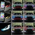 Icedriver لأودي A4 S4 DRL RGB متعدد الألوان LED لوحات 2013-2015 النهار تشغيل أضواء الأحمر الأزرق شيطان العين مصابيح إضاءة