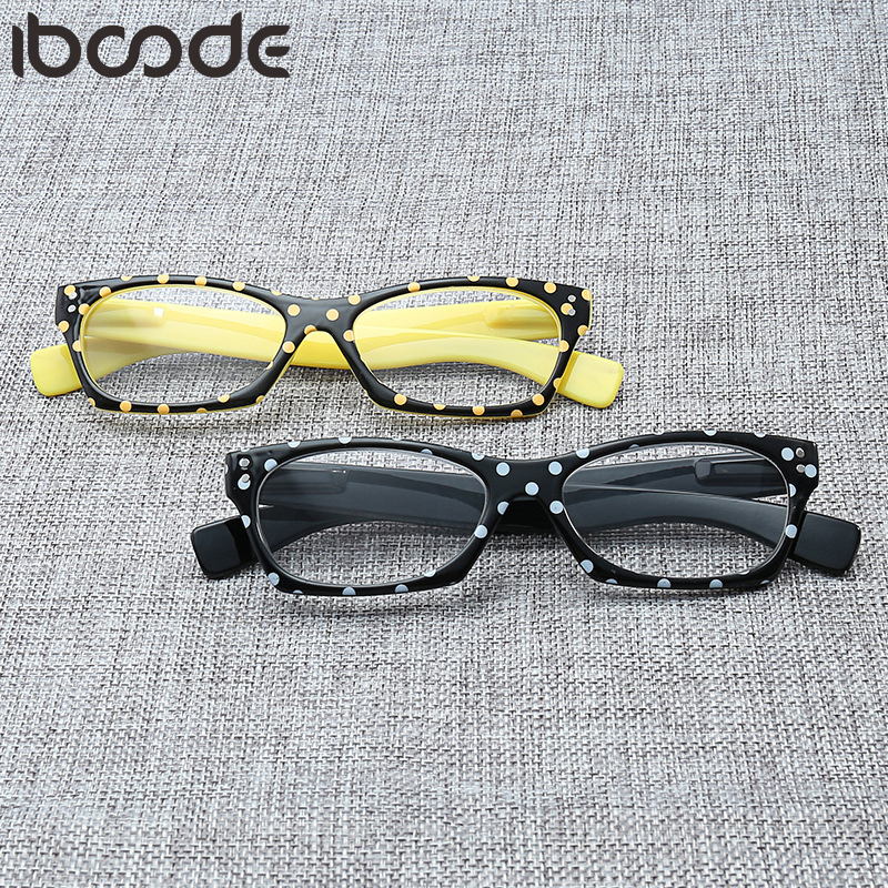 Iboode Reading Glasses Ultra-Light Eyewear Women Men Polka Dots Pattern HD Readers Glasses Antifatigue Presbyopia Eyeglasses