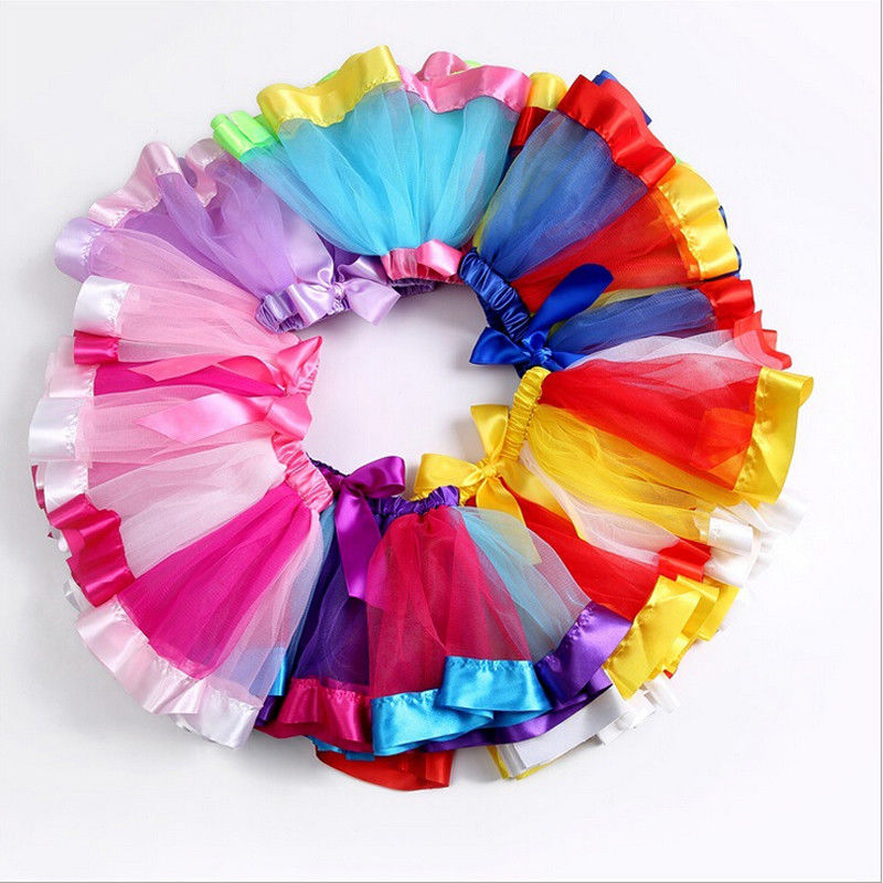 Mother and Daughter Summer Rainbow Tutu Skirt Party Dress Matching Outfits
