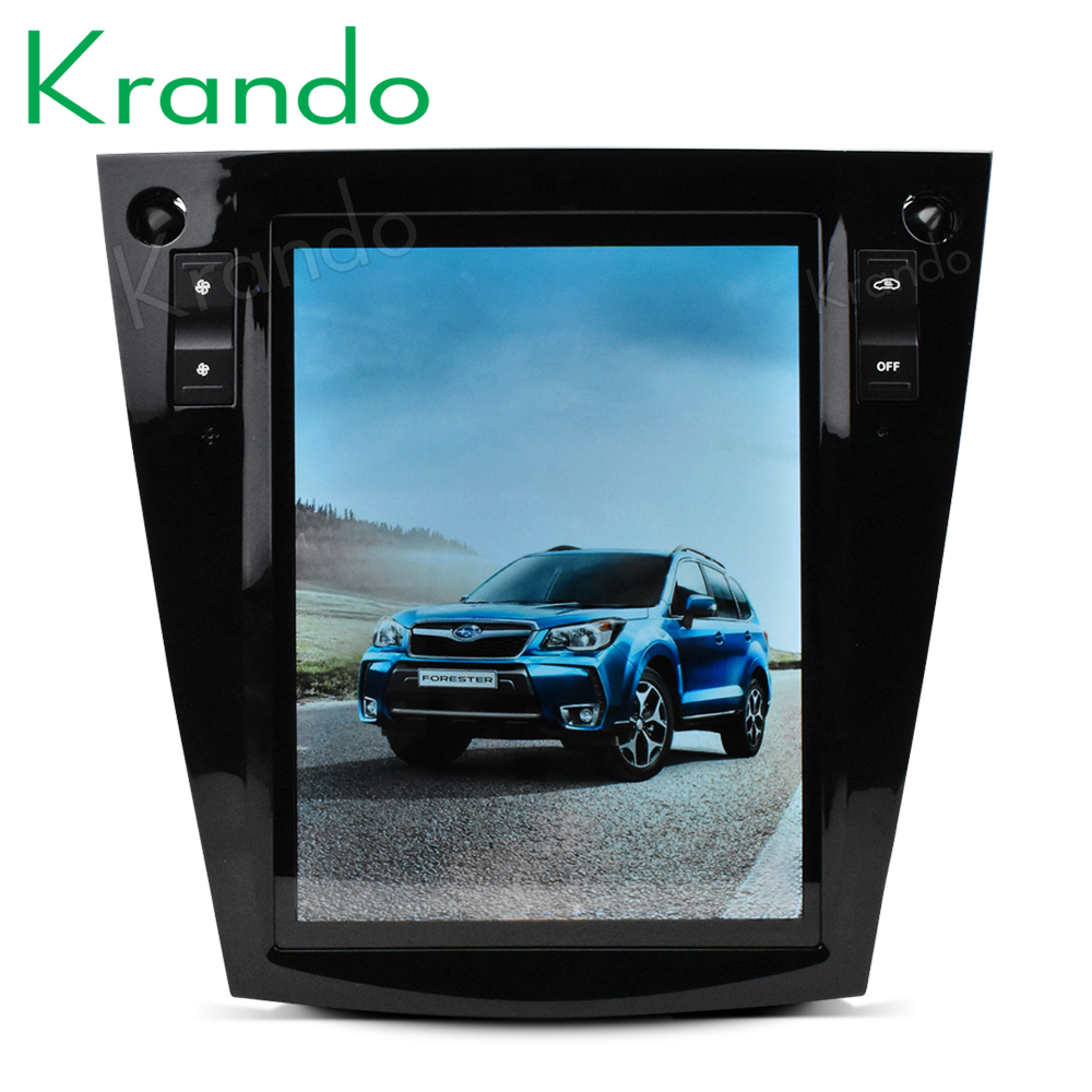 "Krando Android 7.1 10.4"" Vertical screen car dvd audio player For Subaru Forest /XV 2012-2017 gps navigation multimedia system"