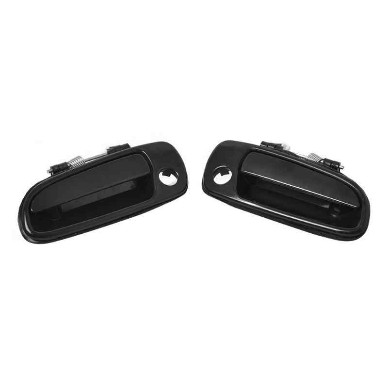 VODOOL Car Front Outside Exterior Door Handle 69220-20290 69210-20290 for Toyota Carola 92-97 Car Left and Right Black Accessory