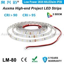 Low Power 2835 60LEDs/m LED Strip,CRI95 CRI90,IP20 DC12V/24V,4.8W/m,300LEDs/Reel,5meter/Reel Non-waterproof,for indoor,bedroom все цены