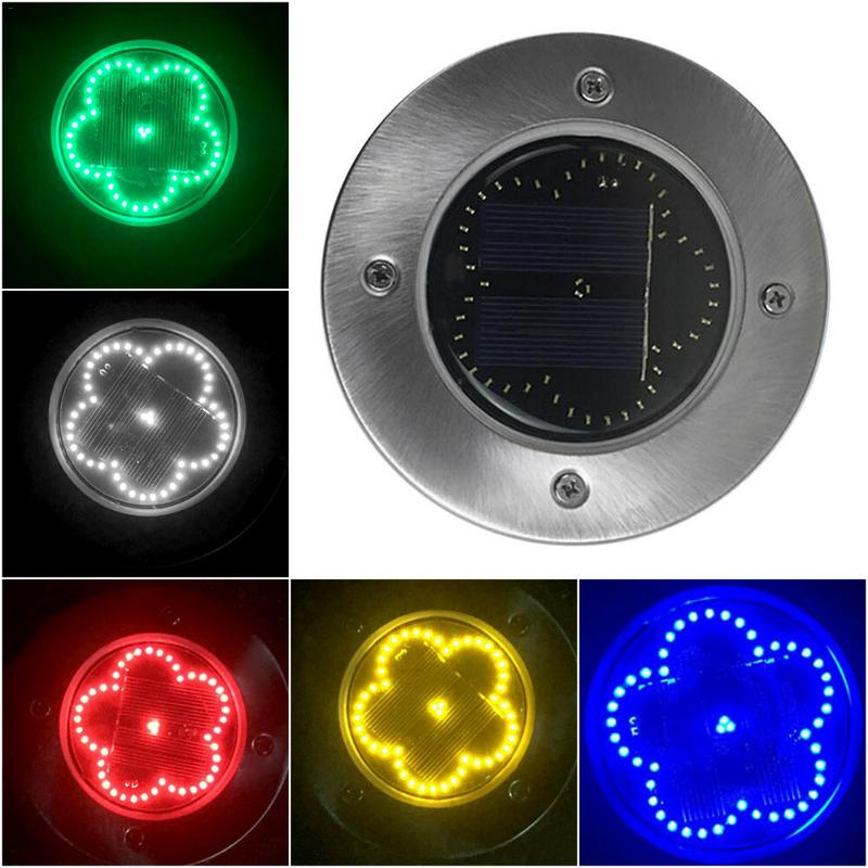 48 LED Solar Power Flower Shape Buried Light Under Ground Lamp Outdoor Path Way Garden Gradient Decking|LED Lawn Lamps| |  - title=