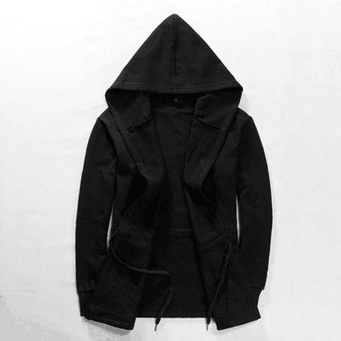 New Fashion Women Men Unisex Gothic Outwear Hooded Coat Black Long Jacket Warm Casual Cloak Cape Hoodies Cardigans Tops Clothes Karachi