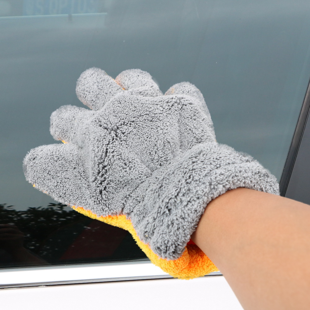 LEEPEE Microfiber Car Washer Cleaning Auto Care Washing Gloves Window Wash Tool Car-styling
