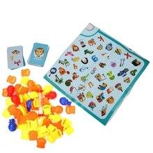 Детские Ранние развивающие игрушки найти картинки соотвествующая доска игра веселый подарок родитель-ребенок интерактивные многопользовательские игры Вечерние игры