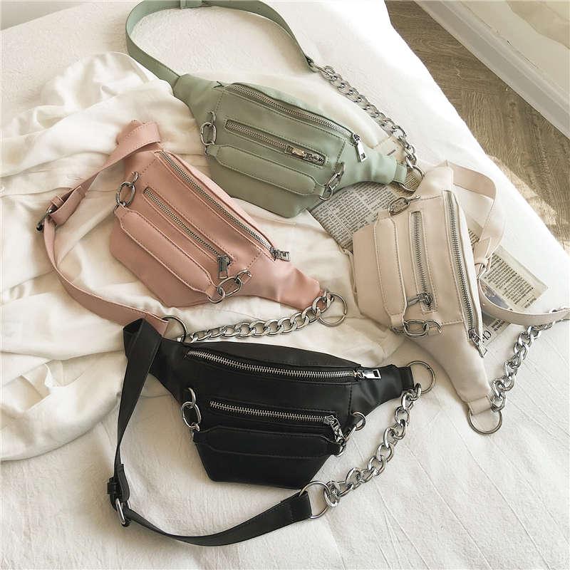 Casual Waist Bag For Women 2019 Chest Bag Fashion Fanny Pack PU Leather Waist Pack Ladies Crossbody Bags Banana Bolsa Feminina