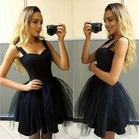 New 2019 Fashion Women Casual Sleeveless Strap Dress Evening Party Dress Short Dress Black Pink Sexy Women Dresses
