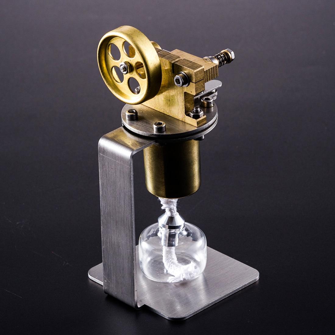 Us 58 47 47 Off All Metal Horizontal Single Cylinder Diy Steam Engine Stem Model Set Early Building Kits Learning Model Toys For Children In Model
