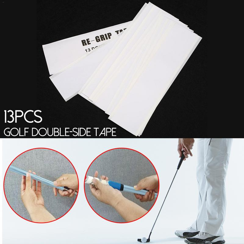 13 Pcs Double Sided Club Tape Strips Strong Adhesiveness For Golf Grip Set 22*5cm Golf Rubber Strips Strong Adhesiveness