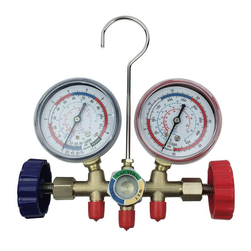 Car Home Air Conditioning Fluoride Pressure Gauge Double Meters Inverter Digital Display Valve Refrigeration Meter-in Air-conditioning Installation from Automobiles & Motorcycles