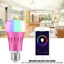 7W WiFi Smart Light Bulb Wireless Dimmable RGB LED Lamp Works for Alexa Google Home Lighting