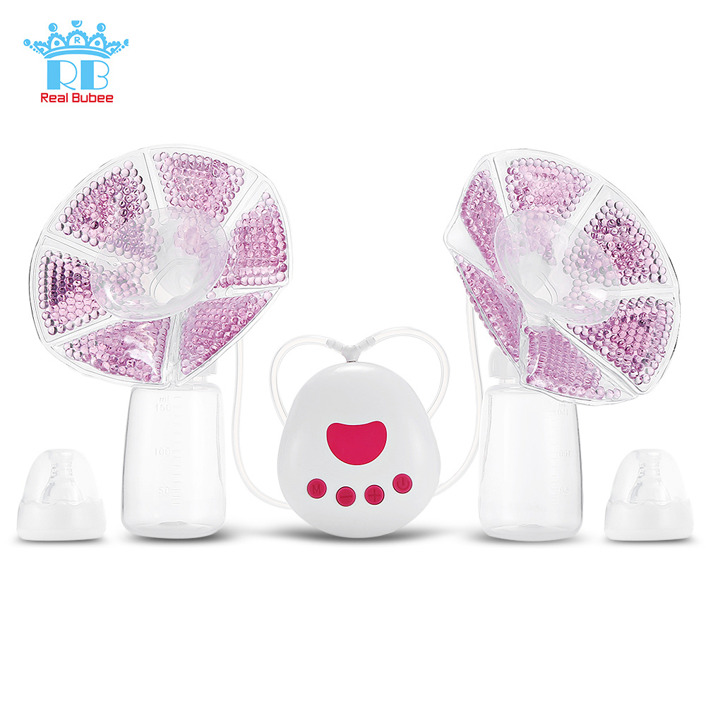 Real Bubee 2 In 1 Double/Single Electric Breast Pump USB Silicone Baby Breast Pumps For Mother With 150ml Baby Feeding BottleReal Bubee 2 In 1 Double/Single Electric Breast Pump USB Silicone Baby Breast Pumps For Mother With 150ml Baby Feeding Bottle
