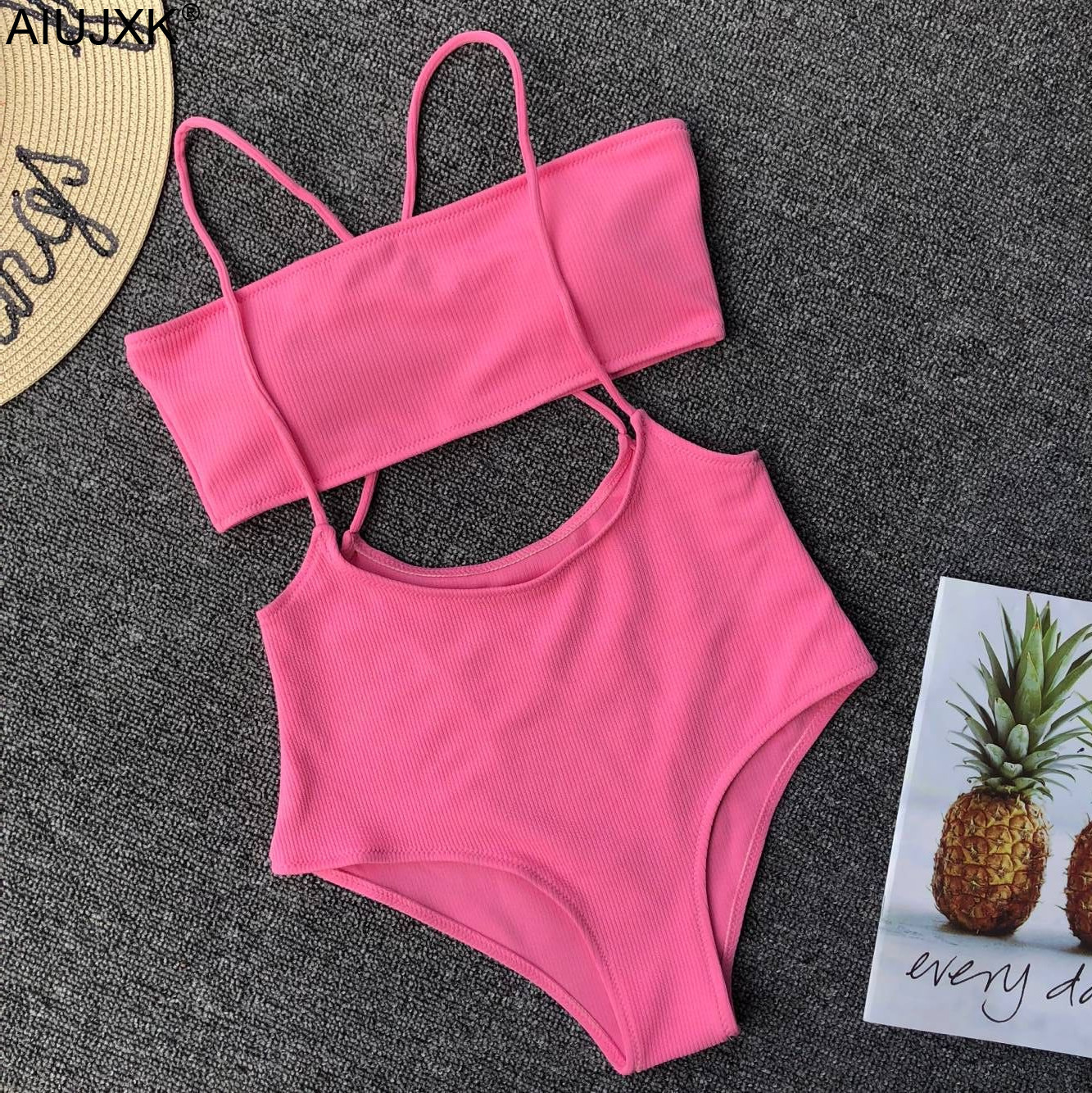 AIUJXK Fashion 6 Colors Summer Biquini   Bra     Set   Women Sexy Strap Beach Lingerie Female Swimwear 2 Piece Swimsuit Sport Underwear