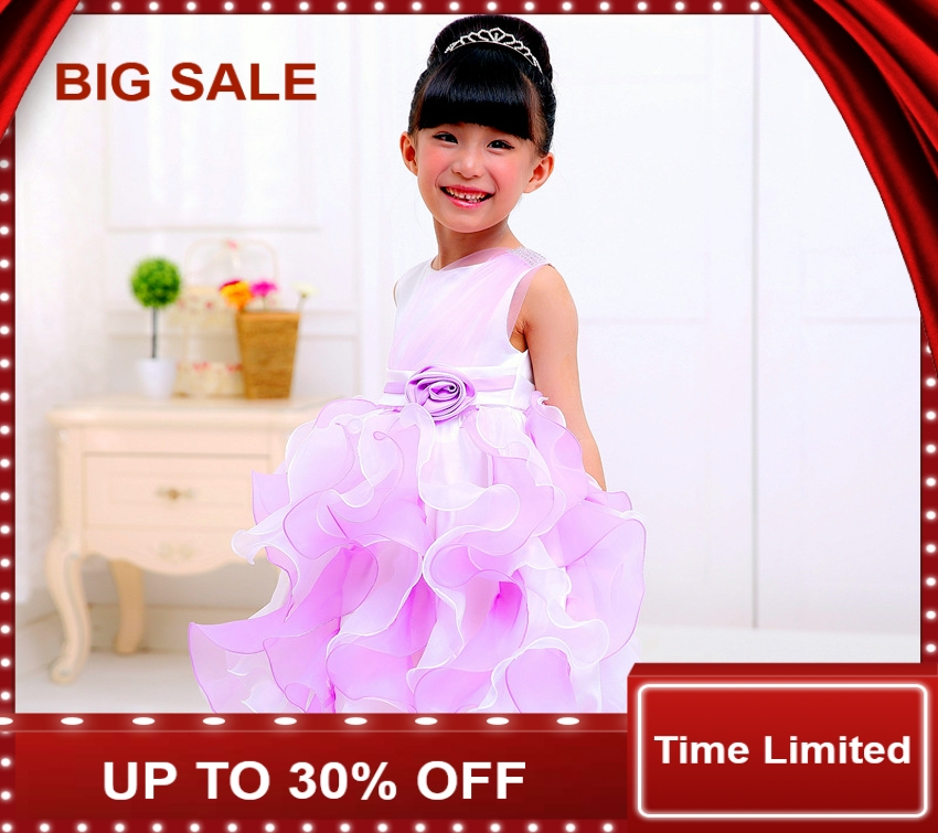 High Quality Baby Girl Dress Baptism for Infant 2-7 Year Birthday