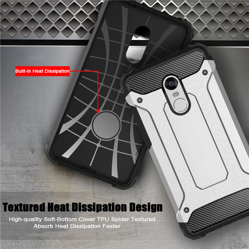 Armor Case For Xiaomi Redmi Note 5 Silicone Case Hard PC Cover For XIaomi A1 A2 Redmi 6A Note 7 Hybrid Protective Fundas Coques in Fitted Cases from Cellphones Telecommunications