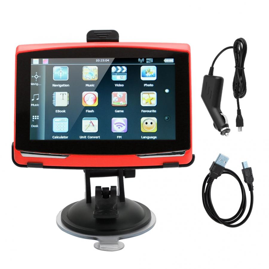 Gps-Accessories Gps-Navigator-System 5inch Universal-Player Vehicle 256M Portable 8GB