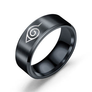 Proyearn Men-Ring Naruto Stainless-Steel Anime Round 8mm
