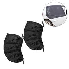 2PCS Universal Fit Black Mesh Car Side Rear Window Sun Shade Cover Screen Size S M L