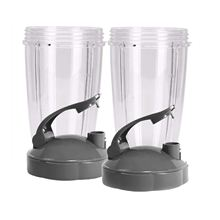 New Hot 24-Ounce Cups with Flip Top To-Go Lid (Pack of 2) Nutri Replacement Parts & Accessories Fits Nutri 600w and Pro 900w B nutribullet nutri bullet flip top to go lid for mug cup 18 oz 24 oz 32 oz 900w 600w watt new not used 38