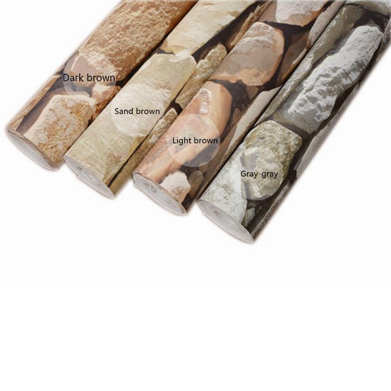 Rétro 3D effet brique papier peint rouleau pour le mur pierre salon mur papier café Bar Restaurant vêtements boutique décor papier peint