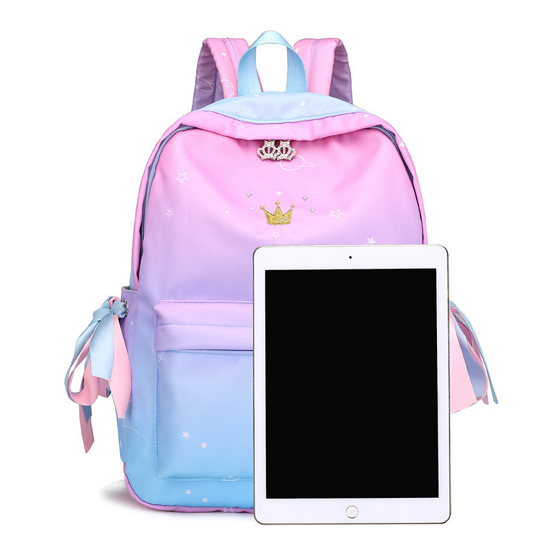 kawaii backpack Women Waterproof Nylon Backpack Korean Style Designers Shoulder School Bag Leisure Rucksack For Girls Bagpack in Backpacks from Luggage Bags