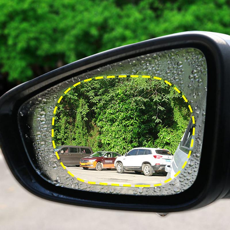 Image 3 - Anti Fog Car Mirror Window Clear Film Membrane Anti glare Waterproof Rainproof Car Sticker Car Accessories 2PCS/Set-in Mirror & Covers from Automobiles & Motorcycles