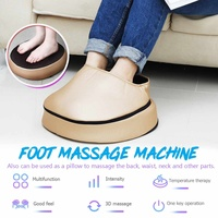 3D Massage Heads Multifunctional Electric 3IN1 Calf Back Foot Massage Heating Therapy Home&Car EU/US Plug PU Leather Removed