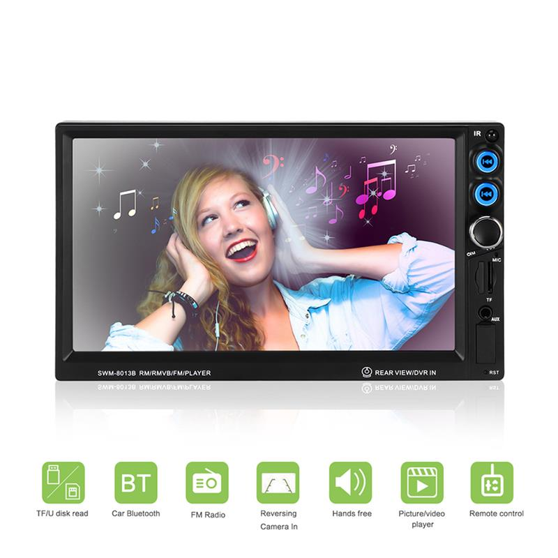 2Din In Dash Car Stereo Touch 7 inch Screen Bluetooth MP5 Player FM Radio TF USB