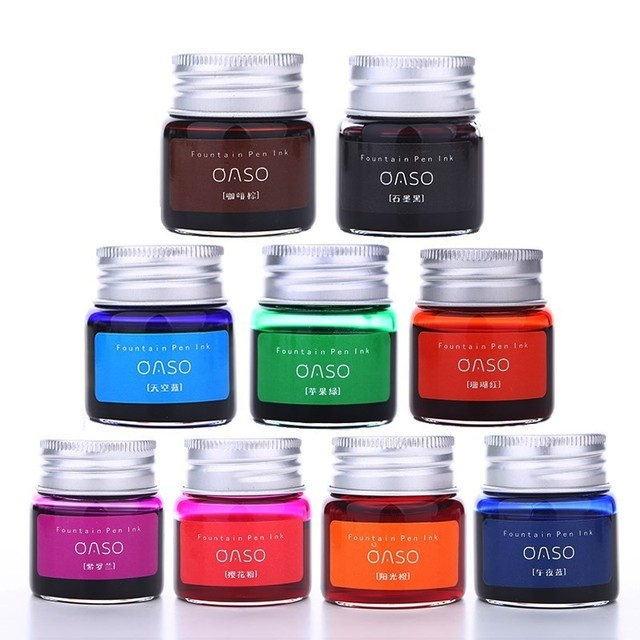7/20ml Smooth Colorful Liquid Ink Bright Comics Ink Refill Without Fountain Pen Ink Pen Carbon Office School Stationery 03826