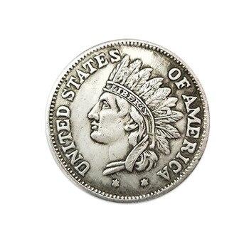 72eb2dcfd06d 2019 nuevo ordinario moneda conmemorativa de 1 dólar 38 MM americano blanco  monedas de cobre extranjeros colección de monedas soplado