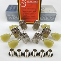 Genuine Grover Tuning Pegs Deluxe Vintage Style Guitar Machine Heads Tuners For 10mm lespaul Guitar Nickel Made in China