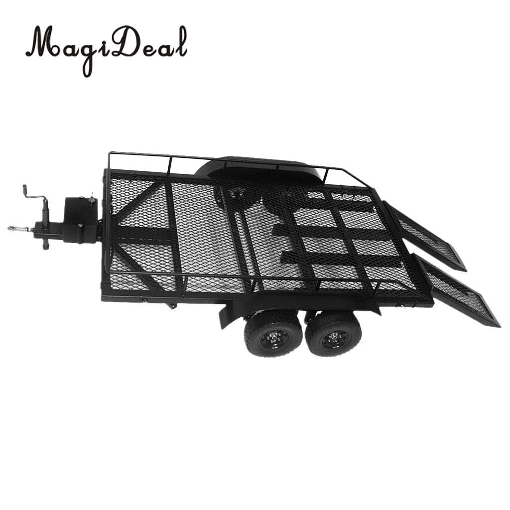 MagiDeal 1/10 échelle RC escalade camion modèles lourds remorque métal pour Axial SCX10 Traxxas D90 D110 TF2