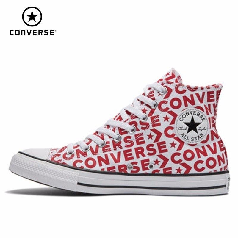 CONVERSE All Star Unises chaussures de skate nouveauté chaussures toile d'aide haute chaussures confortables # 163953C/163952C
