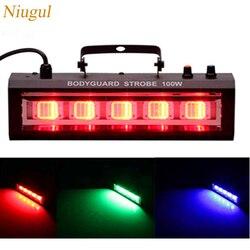 100W światło stroboskopowe LED etap światło błyskowe Bar Disco DJ KTV dźwięk aktywowany efekt sceniczny oświetlenie 100W LED ochroniarz lampa stroboskopowa w Oświetlenie sceniczne od Lampy i oświetlenie na