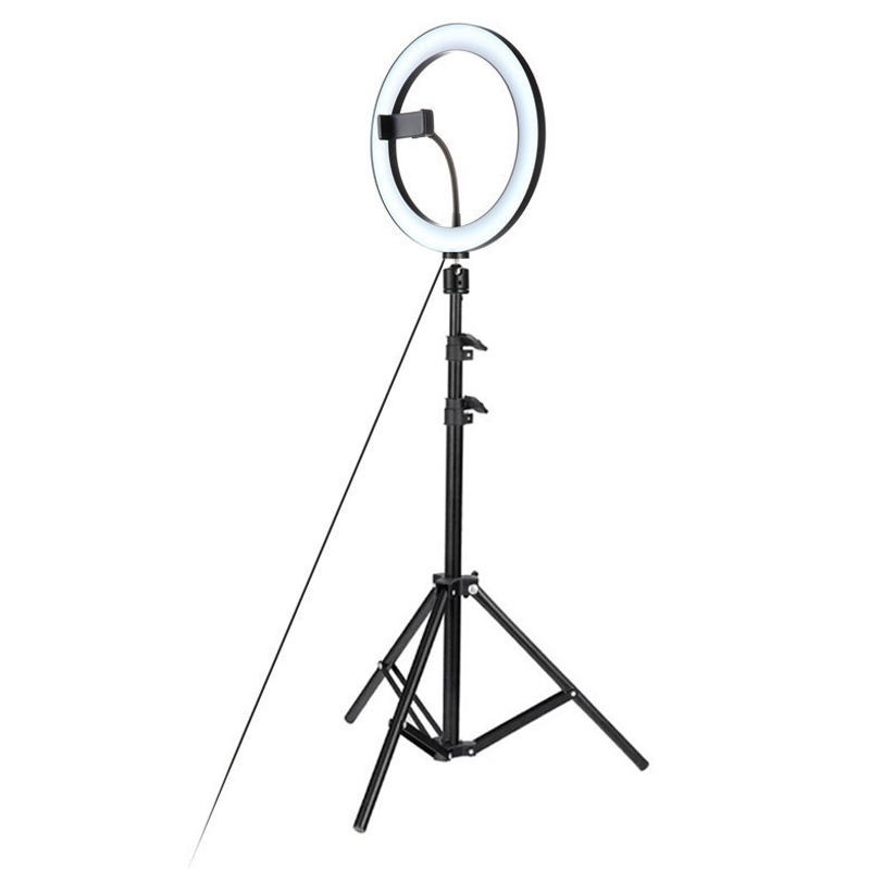 Dimmble Ring LED Light With Phone Holder 1.2m Tripod Adjustable Light For Fashion Live Streaming SelfieDimmble Ring LED Light With Phone Holder 1.2m Tripod Adjustable Light For Fashion Live Streaming Selfie
