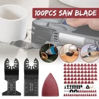 100Pcs Multitool Saw Blade Oscillating Blade Multi Tool Circular Saw Blades For Renovator For Fein Multimaster Wood Cutting Saws