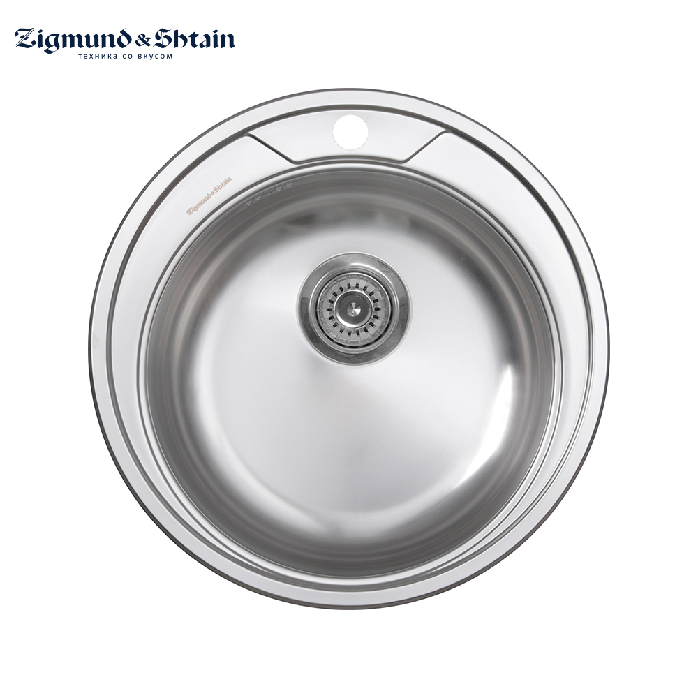 Kitchen Sinks Zigmund&Shtain Kreis 510.7 polished Home Improvement Kitchen Fixture Washing wash basin sink