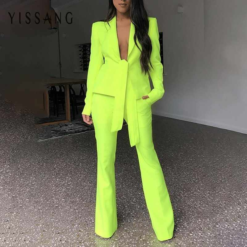 6d7d38657993e Yissang Red Black Women Two Piece Sets Long Pants And Strap Tops ...