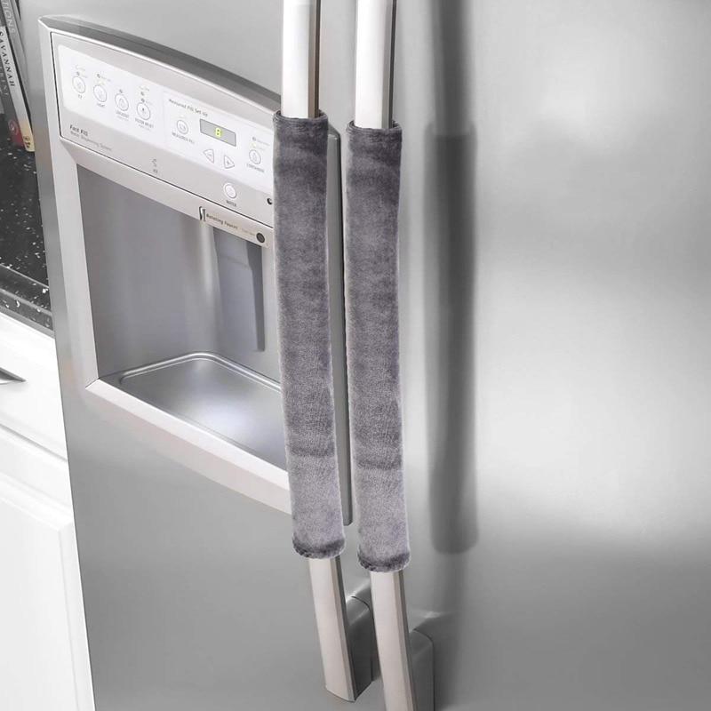 Refrigerator Door Handle Cover Kitchen Appliance Decor Handles Antiskid Protector Gloves for Fridge Oven Keep off Fingerprints