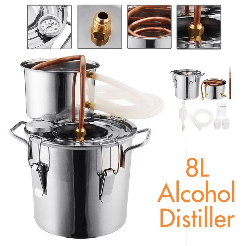 Utilitaire 8L vin bière alcool distillateur Moonshine alcool maison bricolage Kit de brassage maison distillateur cuivre distillateur équipement