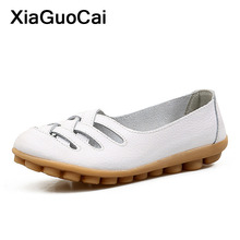 Plus Size Women Shoes Spring Summer Female Casual Shoes Loafers Slip-on Flats Doug Shoes Gommino Leather Nurse Driving Footwear