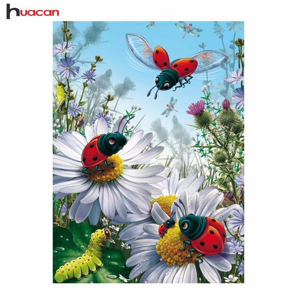 Diamond Embroidery Cartoon Rhinestone Cross Stitch Full Round Diamond Painting  Insect Picture Diamond Mosaic Hobby DecorDiamond Embroidery Cartoon Rhinestone Cross Stitch Full Round Diamond Painting  Insect Picture Diamond Mosaic Hobby Decor